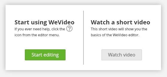 ブラウザで動画編集できる無料サービスWE VIDEOプロジェクト作成