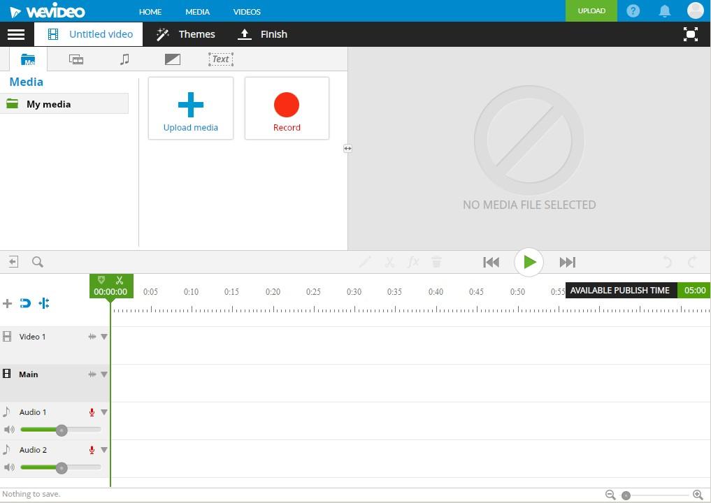 ブラウザで動画編集できる無料サービスWE VIDEOプロジェクト画面