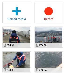 ブラウザで動画編集できる無料サービスWE VIDEO素材アップロード