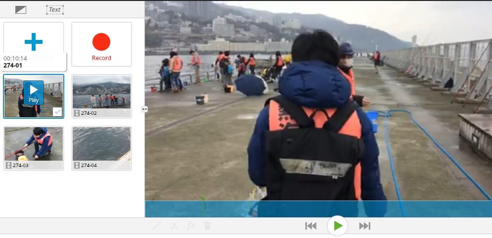 ブラウザで動画編集できる無料サービスWE VIDEO素材プレビュー