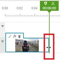 ブラウザで動画編集できる無料サービスWE VIDEO動画素材の編集