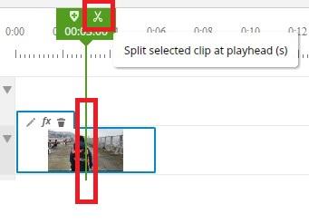 ブラウザで動画編集できる無料サービスWE VIDEO動画素材のカット
