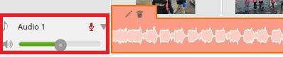 ブラウザで動画編集できる無料サービスWE VIDEO、BGM音楽、音量調整