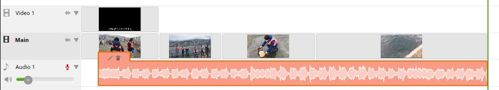 ブラウザで動画編集できる無料サービスWE VIDEO、BGM音楽、音量編集