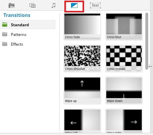 ブラウザで動画編集できる無料サービスWE VIDEOトランジション設定