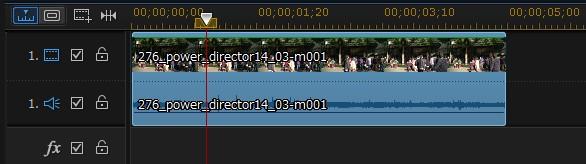 動画編集ソフト PowerDirector 14動画の縮小