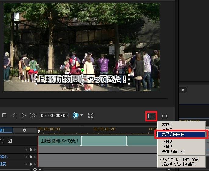 動画編集ソフト PowerDirector 14の使い方(5) タイトルデザイナー位置調整