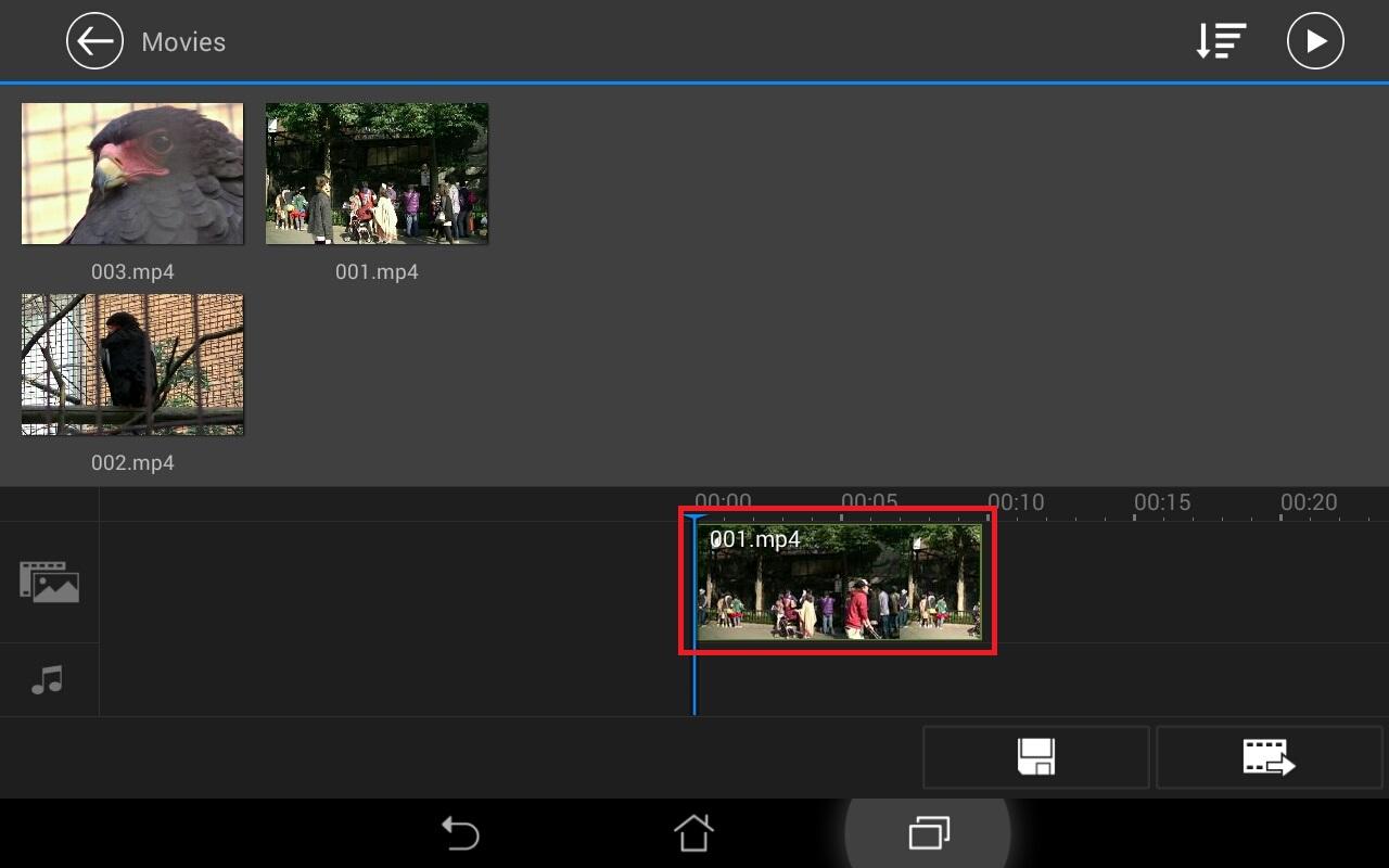 動画ファイルの挿入方法 無料動画編集アプリPowerDirector