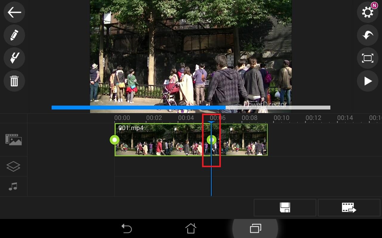 動画ファイルを短くする方法 無料動画編集アプリPowerDirector