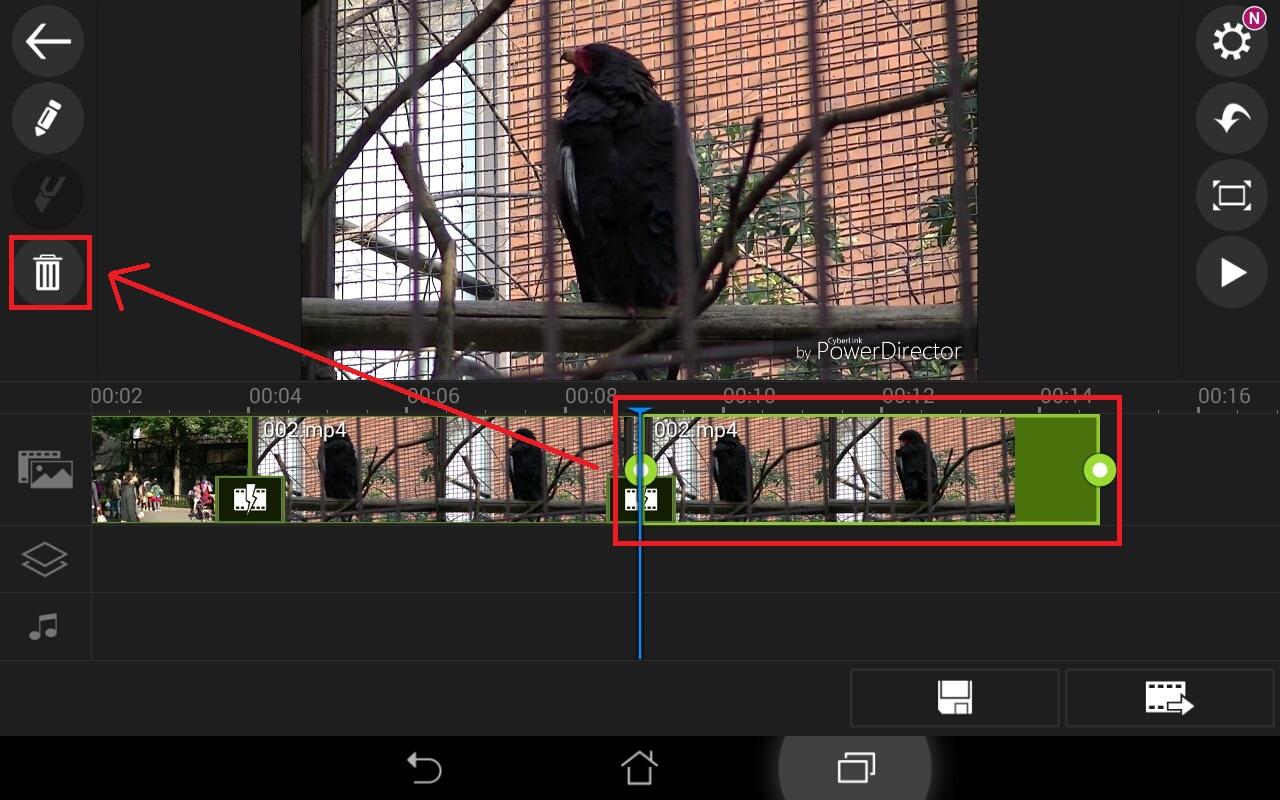 動画ファイルを削除する方法 無料動画編集アプリPowerDirector