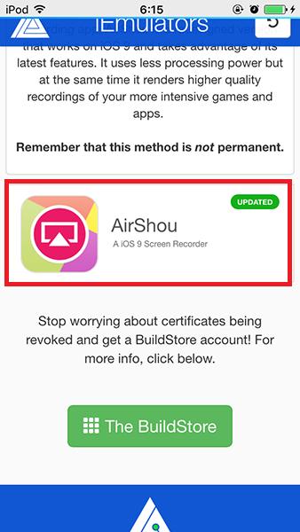AirShouダウンロードページ