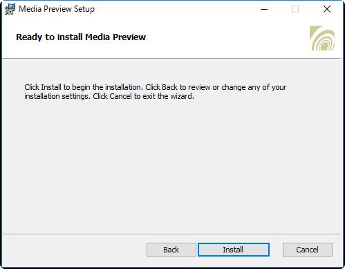 フリーソフトMedia Preview Configurationインストール