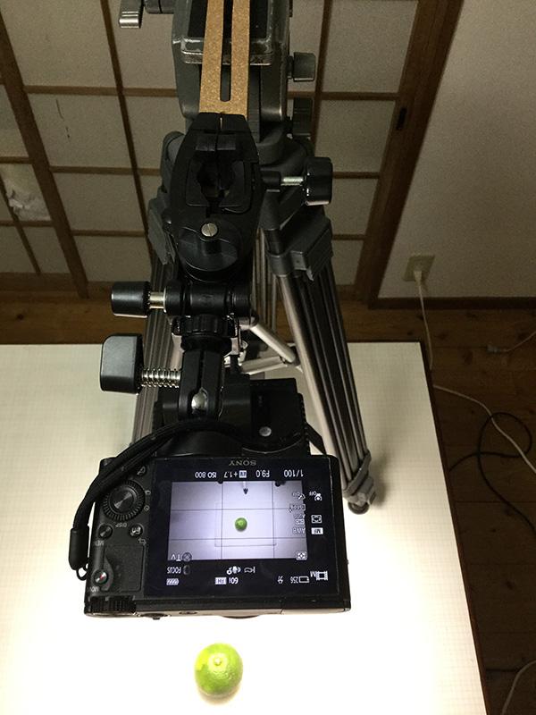 ビデオライトと三脚の簡易照明