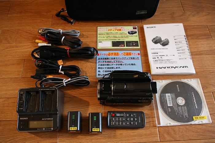 レンタルビデオカメラ商品の確認