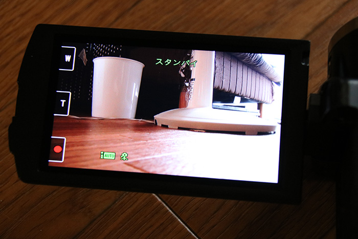 レンタルビデオカメラ録画開始