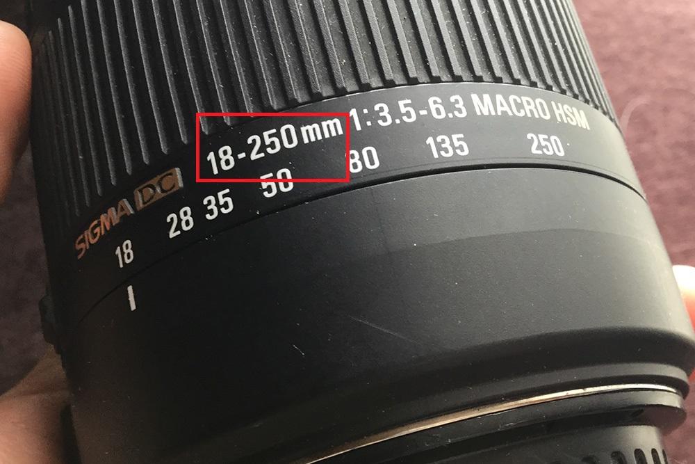 一眼レフカメラレンズの焦点距離
