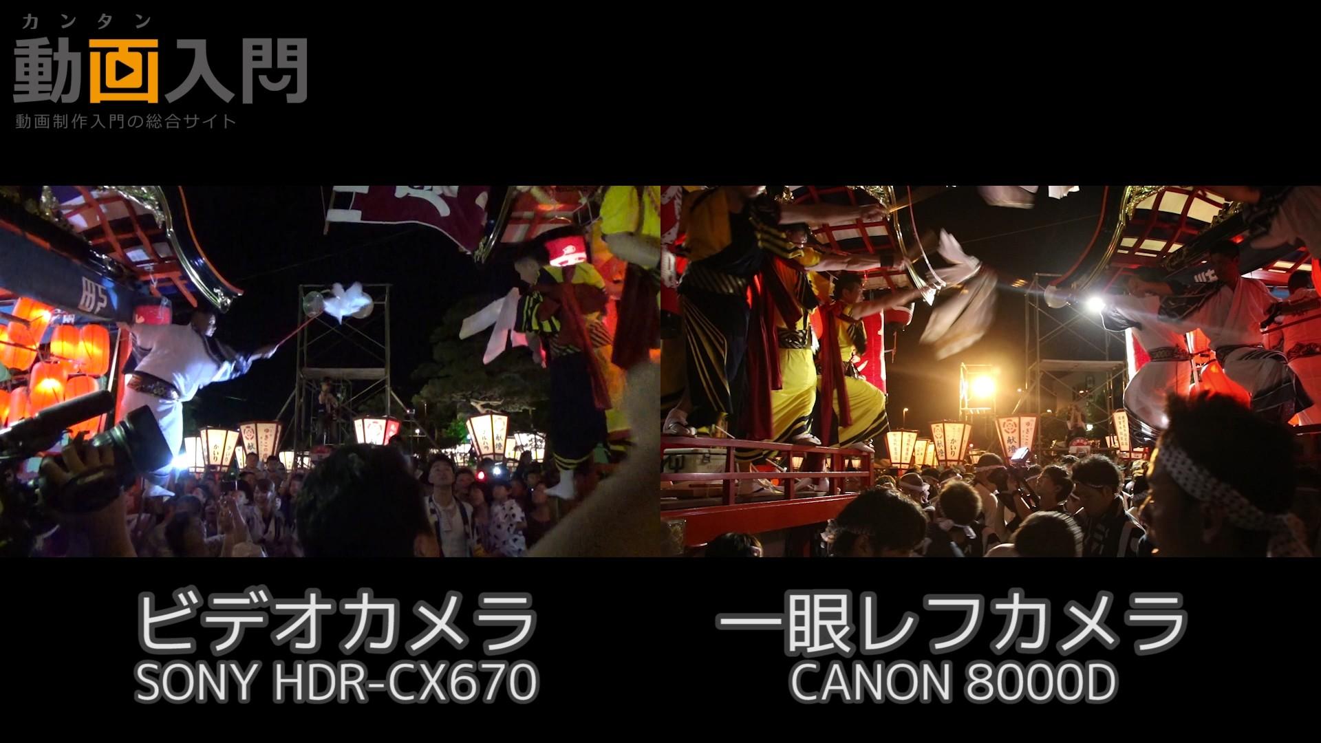 ビデオカメラと一眼レフカメラ画質テスト