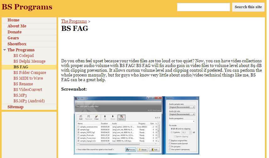 BS FAG公式ダウンロードページ
