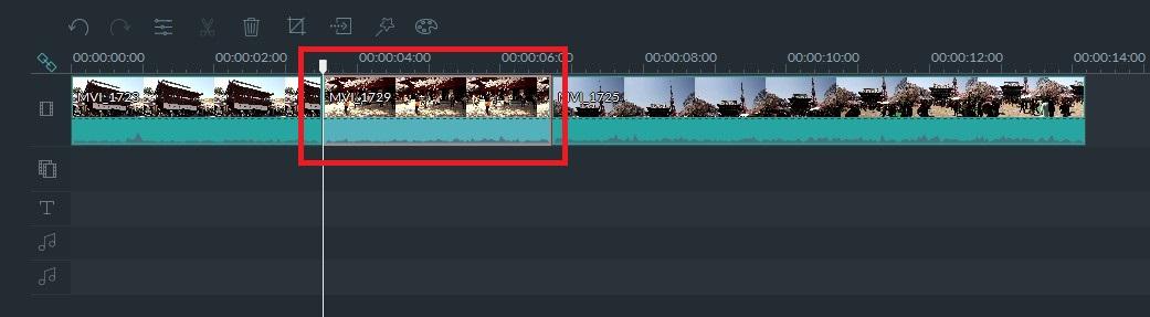 Filmora動画ファイルの並び順を変更する