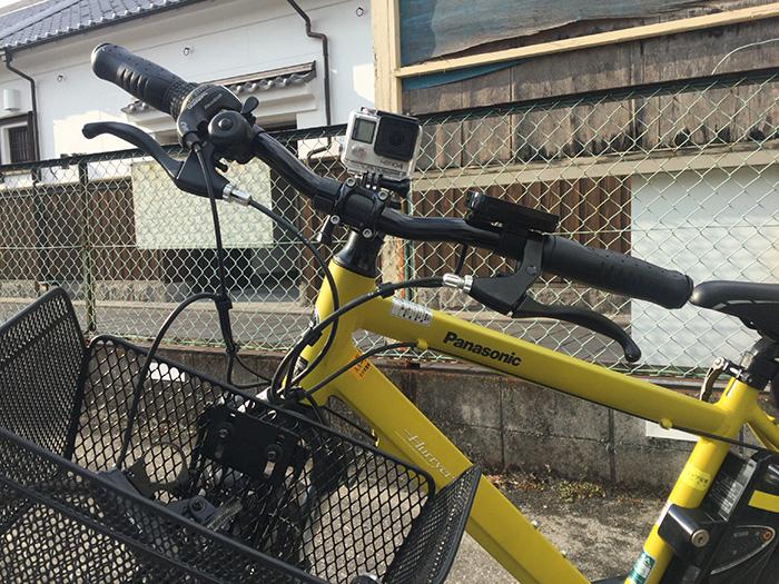 GoPro HERO4を自転車に取り付けた アクションカメラ