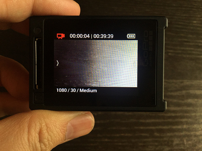 GoPro HERO4 録画開始ボタン アクションカメラ