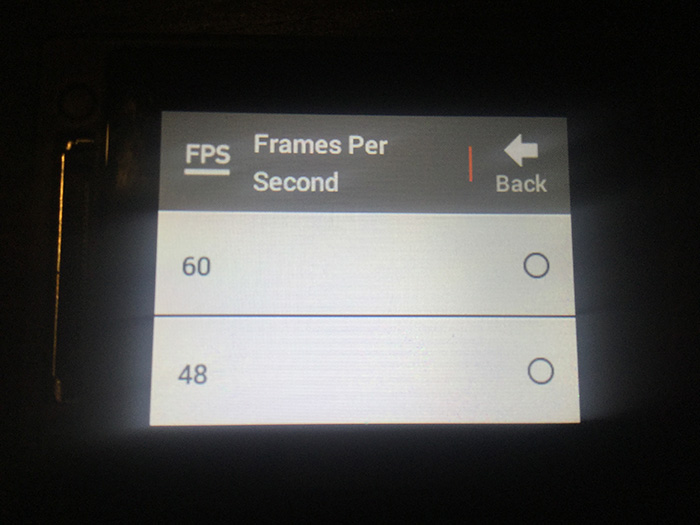 GoPro HERO4 ビデオセッティングモード アクションカメラ
