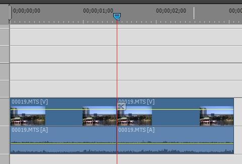 動画ファイルの分割方法 Adobe Premiere Elements15