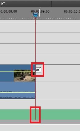 BGM音楽ファイルを分割カット Adobe Premiere Elements15