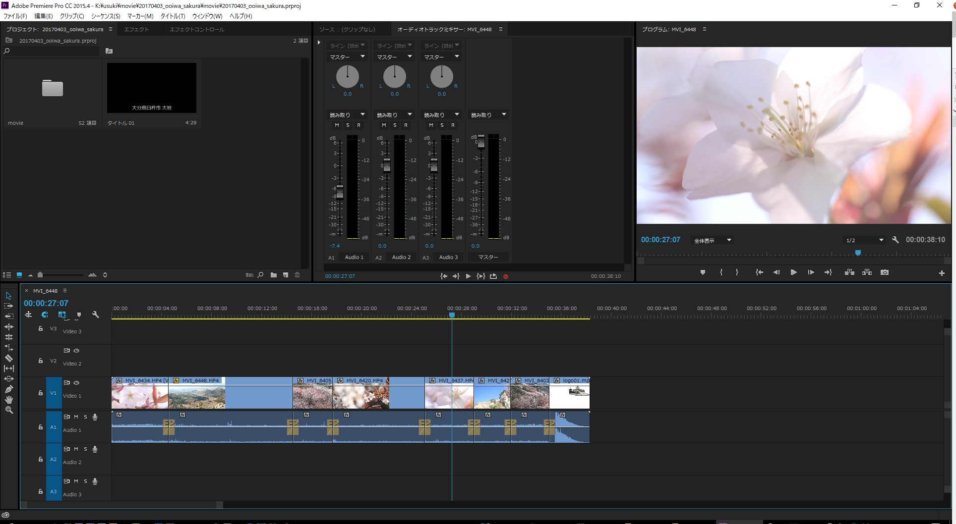Adobe Premiere CCインターフェイス