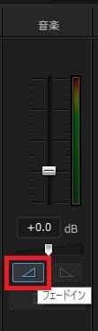 音声フェードインの方法 音声ミキシングルームボタン PowerDirector16の使い方