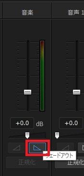 音声フェードアウトの方法 音声ミキシングルームボタン PowerDirector16の使い方