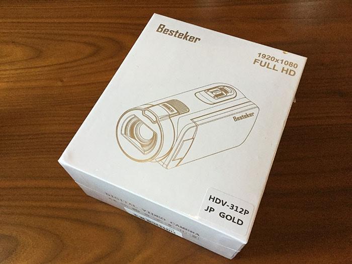 格安ビデオカメラBestekerの箱