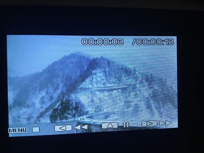 格安ビデオカメラBesteker 再生画面