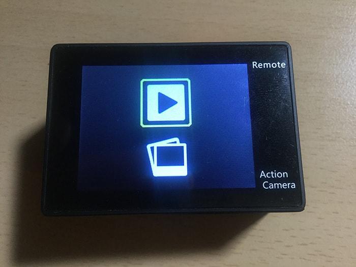 DBPOWER 4K 動画・写真再生ボタン