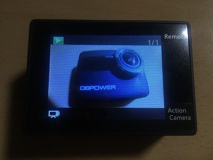 DBPOWER 4K 動画再生モード
