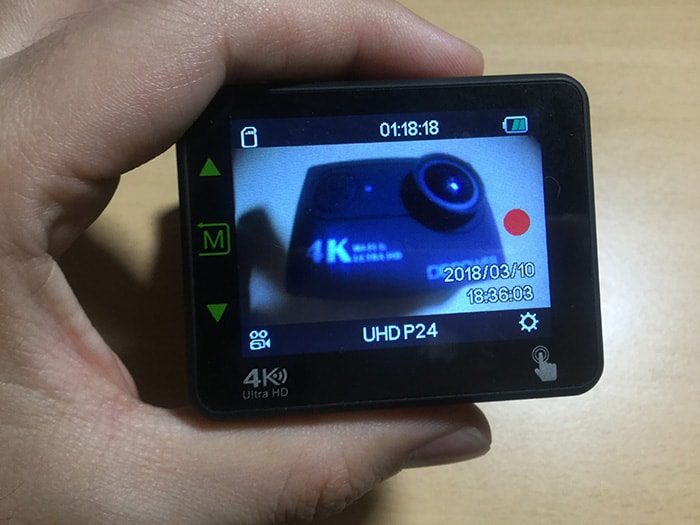 DBPOWER 4K N6 動画モード
