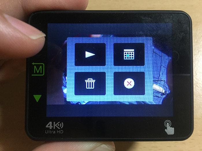 DBPOWER 4K N6 再生ボタン