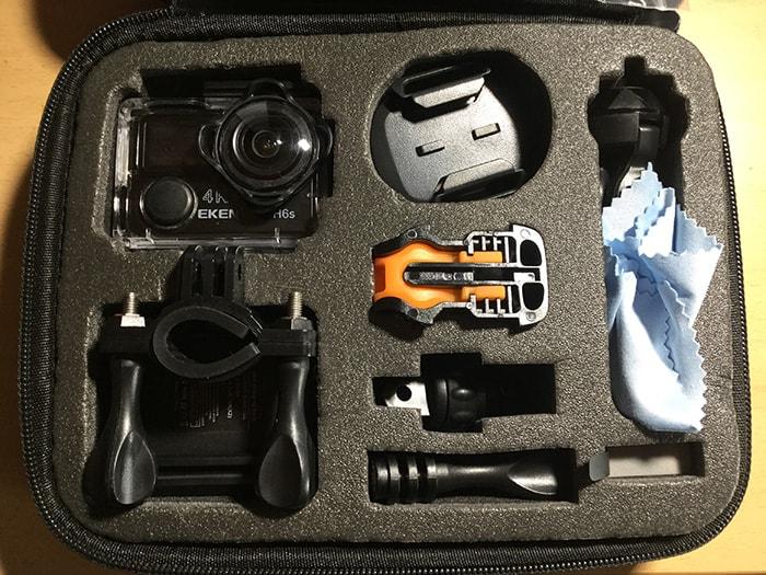 アクションカメラEKEN H6s アクセサリー