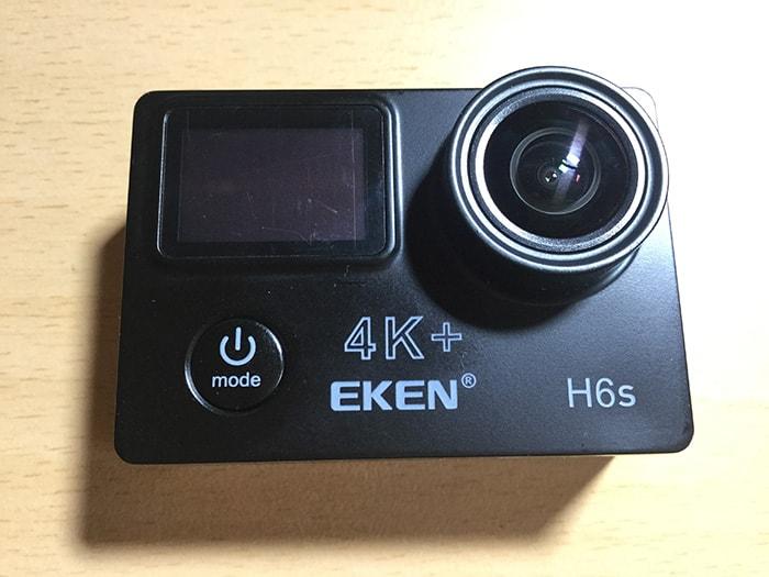アクションカメラEKEN H6s電源・メニューボタン