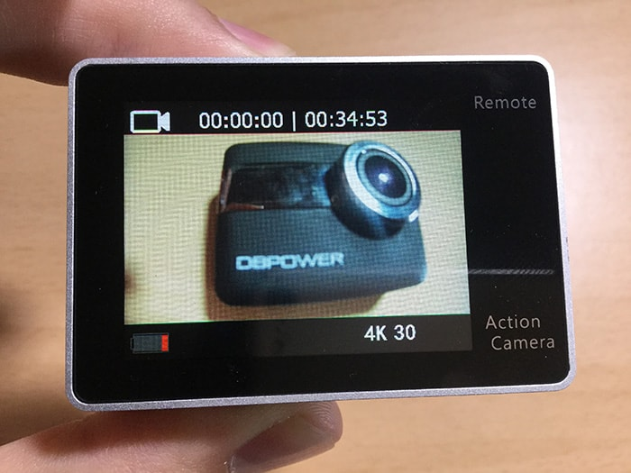 アクションカメラEKEN H6s 動画モード