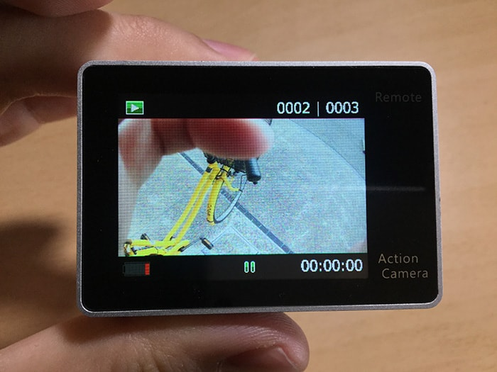 アクションカメラEKEN H6s 動画再生画面