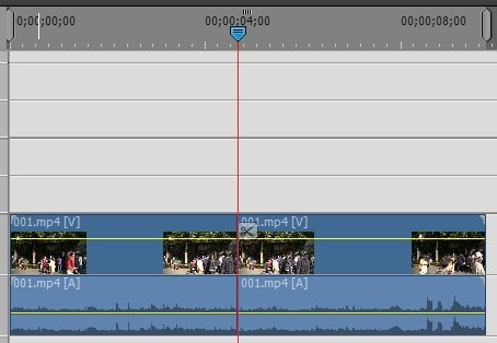 Adobe Premiere Elements2018 タイムライン内の動画を分割編集する方法