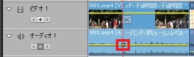 Adobe Premiere Elements2018 キーフレームを打つ方法