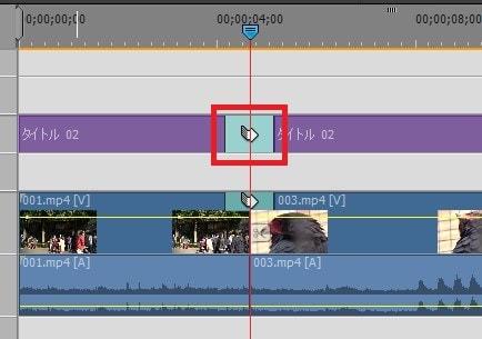Adobe Premiere Elements2018 トランジションをテキストに挿入する方法