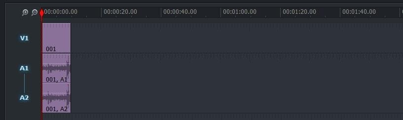 動画編集ソフトLightworks14 タイムラインの拡大・縮小ボタン