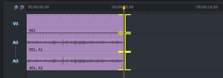 動画編集ソフトLightworks14 タイムラインの動画の長さを編集する方法