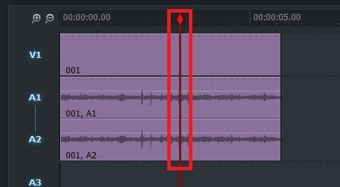 動画編集ソフトLightworks14 タイムラインの動画の長さを分割する方法