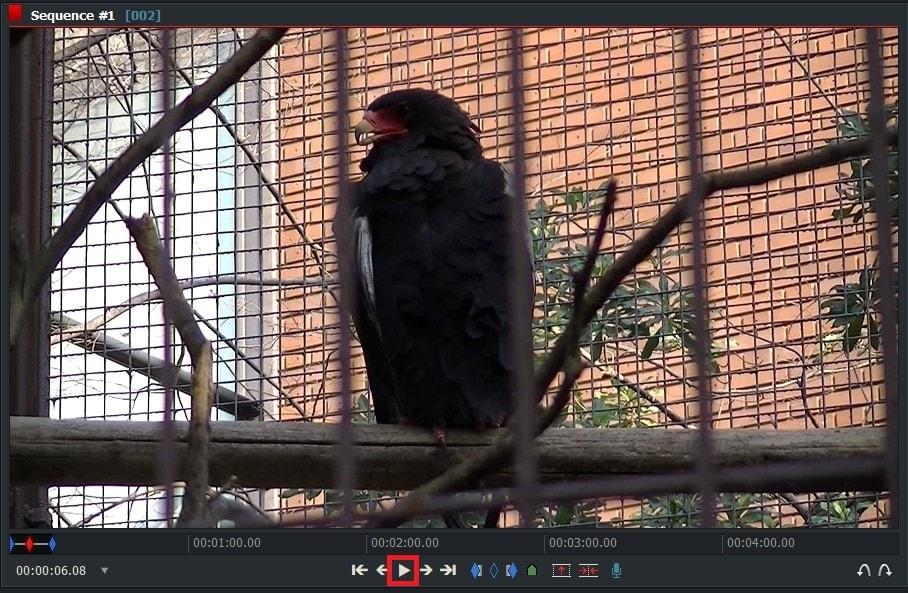 動画編集ソフトLightworks14 タイムラインの動画を再生する方法