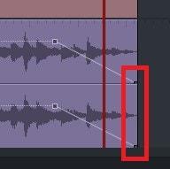 動画編集ソフトLightworks14 BGM音楽ファイルにフェードイン・アウトのキーフレームを付ける方法