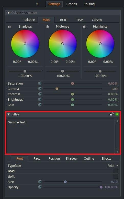 動画編集ソフトLightworks14 テキストテロップタイトルを編集する方法